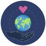 Illustrazione di vettore di un autoadesivo per la Giornata mondiale dell'ambiente illustrazione vettoriale