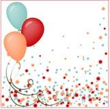 Illustrazione di vettore di un biglietto di auguri per il compleanno felice illustrazione vettoriale