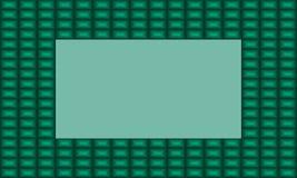 Illustrazione di vettore di un telaio verde smeraldo verde illustrazione vettoriale