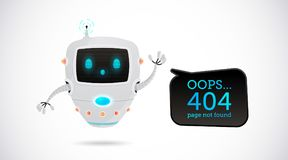 Illustrazione di vettore, una progettazione di 404 pagine Fotografia Stock