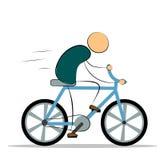 Illustrazione di vettore Uomo che guida una bici illustrazione vettoriale