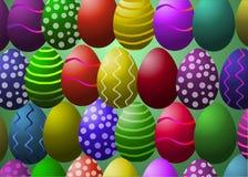 Illustrazione di vettore Uova di Pasqua Fotografia Stock
