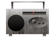 Illustrazione di vettore Vecchia radio su una priorità bassa bianca Immagine Stock Libera da Diritti