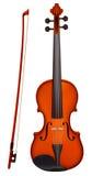 Violino con la luce del fiddlestick Immagine Stock Libera da Diritti