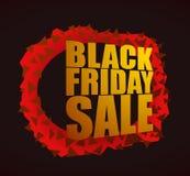 Illustrazione di vettore di vendita di Black Friday Fotografie Stock Libere da Diritti