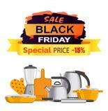 Illustrazione di vettore di vendita speciale di Black Friday Fotografie Stock