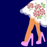Illustrazione di vettore di web piedini in pattini royalty illustrazione gratis