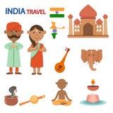 Illustrazione di viaggio dell'India Fotografia Stock Libera da Diritti