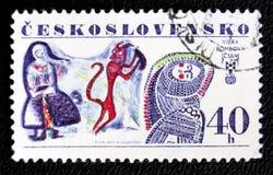 Illustrazione di Viera Bombova, circa 1977 Fotografia Stock
