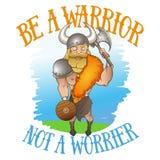 Illustrazione di Viking nella tecnica di scarabocchio del fumetto con la citazione Fotografia Stock