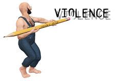 Illustrazione di violenza di Erase Immagini Stock Libere da Diritti