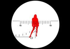 Illustrazione di vista del fucile del tiratore franco Fotografia Stock Libera da Diritti