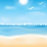 Illustrazione di vista sul mare Immagine Stock
