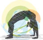 Illustrazione di yoga. Fotografia Stock Libera da Diritti