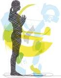 Illustrazione di yoga. Fotografie Stock Libere da Diritti