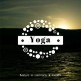 Illustrazione di yoga di vettore ENV, JPG Fotografia Stock