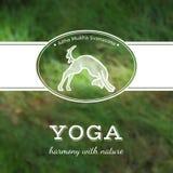 Illustrazione di yoga di vettore Manifesto di yoga con una posa di yoga Immagine Stock Libera da Diritti