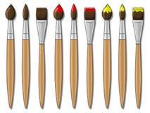 Illustrazione differente di vettore delle spazzole Fotografia Stock Libera da Diritti