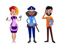 Illustrazione differente di vettore di professioni della gente Immagine Stock Libera da Diritti