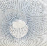 Illustrazione digitale astratta 3d con la spirale nera della cavo-struttura Fotografia Stock Libera da Diritti