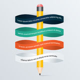 Illustrazione digitale astratta Infographic Royalty Illustrazione gratis