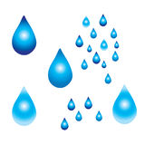 Illustrazione digitale della pioggia Immagine Stock Libera da Diritti