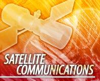 Illustrazione digitale di concetto astratto di telecomunicazioni via satellite Fotografie Stock
