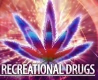 Illustrazione digitale di concetto astratto ricreativo delle droghe Fotografia Stock Libera da Diritti