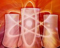 Illustrazione digitale di concetto dell'estratto di energia nucleare Fotografie Stock Libere da Diritti