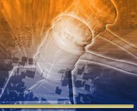 Illustrazione digitale di concetto dell'estratto di udienza giudiziaria Immagine Stock Libera da Diritti