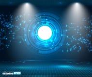 Illustrazione digitale futuristica di vettore del fondo dell'innovazione di tecnologia del fondo di Ciao-tecnologia di concetto a illustrazione vettoriale