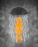 Illustrazione digitale umana dell'ombrello e della figura fotografie stock libere da diritti