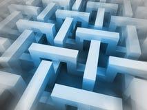 Sfuocatura dimensionale astratta blu della struttura cubica Immagine Stock