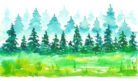 Illustrazione dipinta a mano acquerella, colore luminoso, uso come elemento di progettazione e decorativo per la carta Fotografie Stock Libere da Diritti