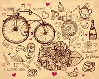Illustrazione disegnata a mano Fotografia Stock