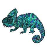 Illustrazione disegnata a mano del camaleonte Fotografia Stock Libera da Diritti