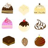 Illustrazione disegnata a mano del cioccolato Mixed Immagine Stock