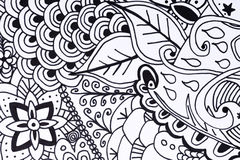 Illustrazione disegnata a mano del libro da colorare adulto royalty illustrazione gratis