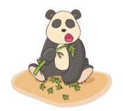 Illustrazione disegnata a mano del panda Immagini Stock