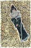 Illustrazione disegnata a mano della geisha Fotografie Stock Libere da Diritti