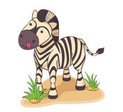 Illustrazione disegnata a mano della zebra Fotografia Stock
