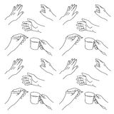 Illustrazione disegnata a mano delle mani illustrazione vettoriale