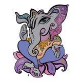 Illustrazione disegnata a mano di Ganesha Fotografie Stock Libere da Diritti
