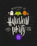 Illustrazione disegnata a mano di Halloween Fotografia Stock