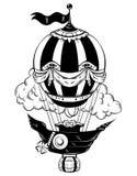 Illustrazione disegnata a mano di vettore dell'aerostato royalty illustrazione gratis