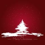 Illustrazione disegnata a mano di vettore di stile della spazzola dell'acquerello di Buon Natale Immagine Stock