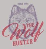 Illustrazione disegnata a mano di Wolf Head Fotografia Stock Libera da Diritti