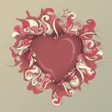 Illustrazione disegnata a mano sudicia del cuore Immagine Stock