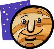 Illustrazione divertente del fumetto del pianeta di Giove Fotografia Stock
