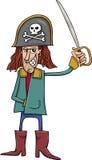 Illustrazione divertente del fumetto del pirata Fotografia Stock